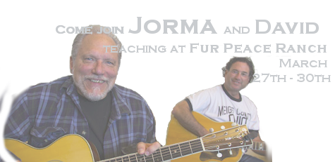 Come join Jorma and David teaching at Fur Peace Ranch March 27th - 30th