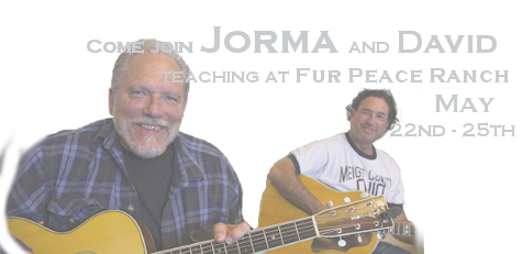 Come join Jorma and David teaching at Fur Peace Ranch May 22nd - 25th