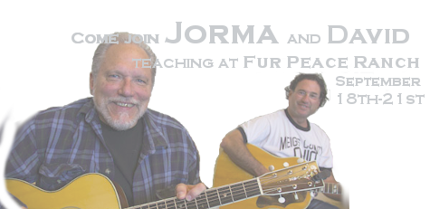 Come join Jorma and David teaching at Fur Peace Ranch September 18th-21st