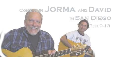 Come join Jorma and David in San Diego Feb 9-13