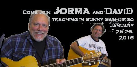 Come Join Jorma & David Teaching in San Diego January 25-29, 2016